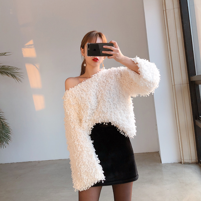 블링블링 fur top (3color)